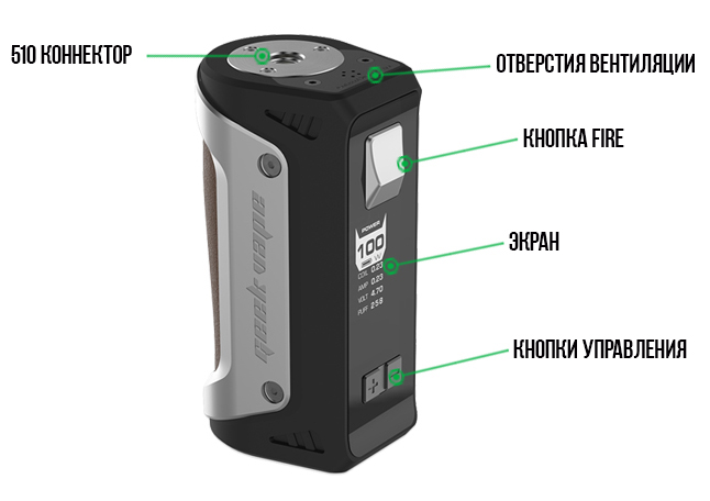 100W GeekVape Aegis TC Box MOD with 26650 Battery 02 d545f0