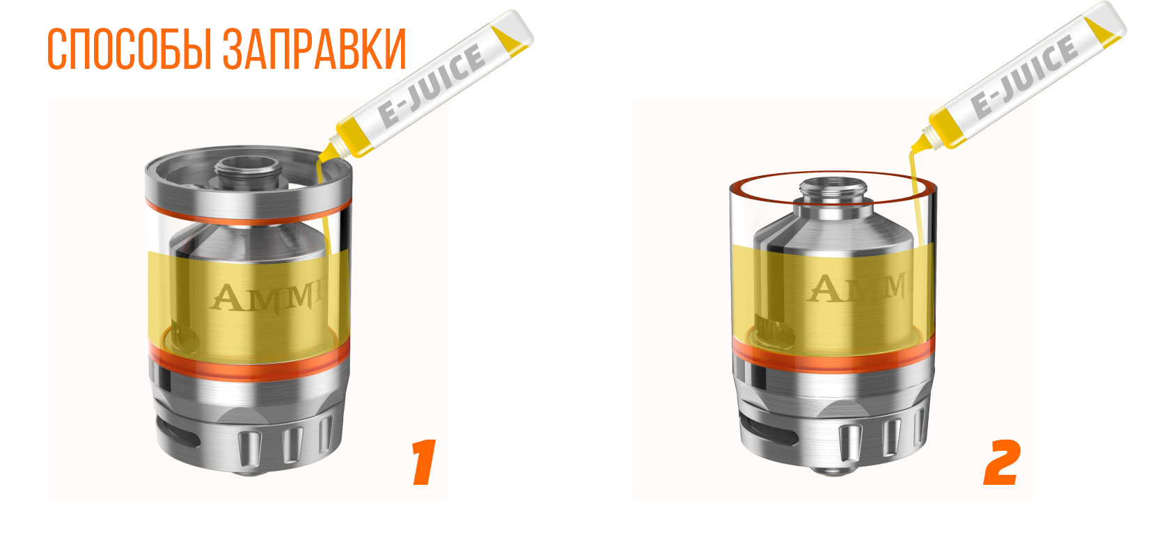 AMMIT dual coil rta two refilling ways new